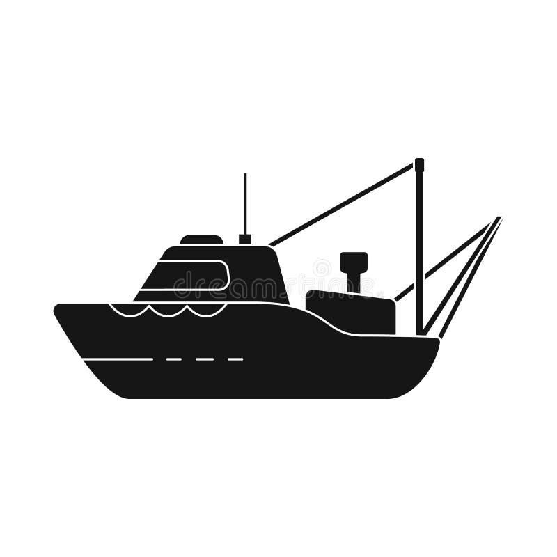 船和渔场商标传染媒介设计  设置船和船股票的传染媒介象 皇族释放例证