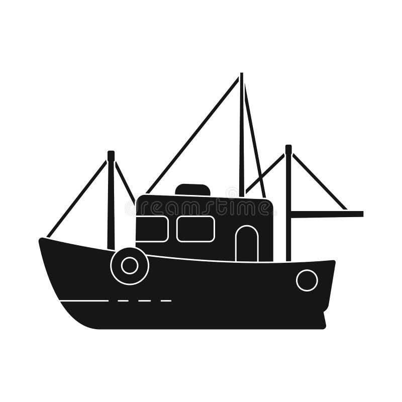 船和渔场象被隔绝的对象  船和汽船股票的传染媒介象的汇集 库存例证