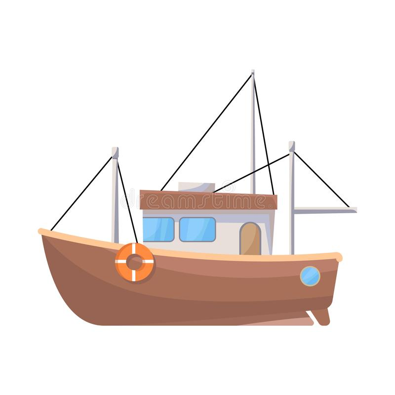 船和渔场象被隔绝的对象  设置网的船和汽船股票简名 皇族释放例证