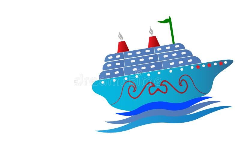 船商标 向量例证