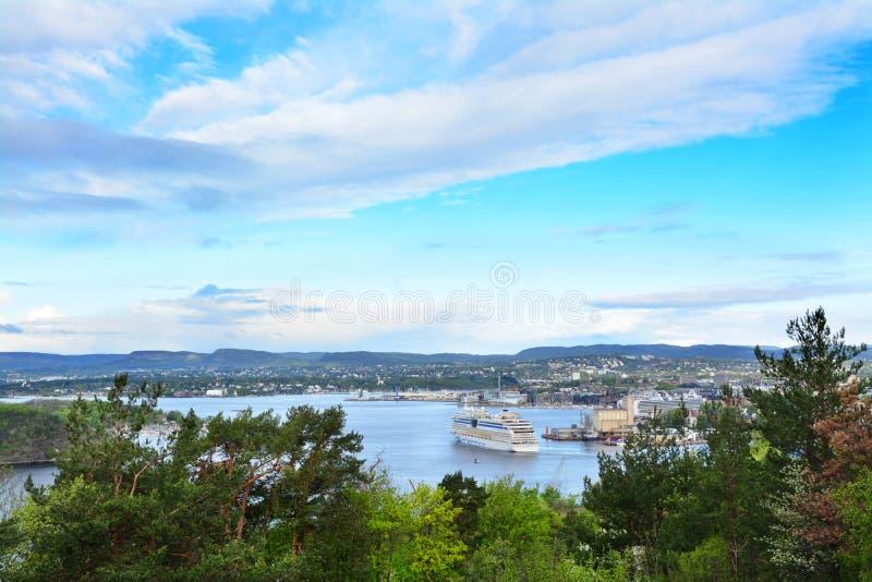 船在奥斯陆海湾,挪威 免版税图库摄影