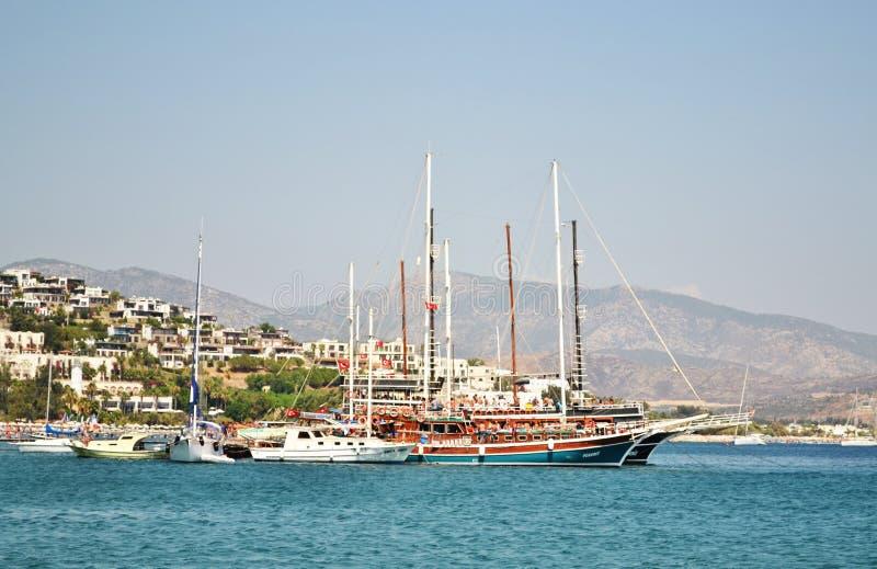 船在爱琴海 库存图片