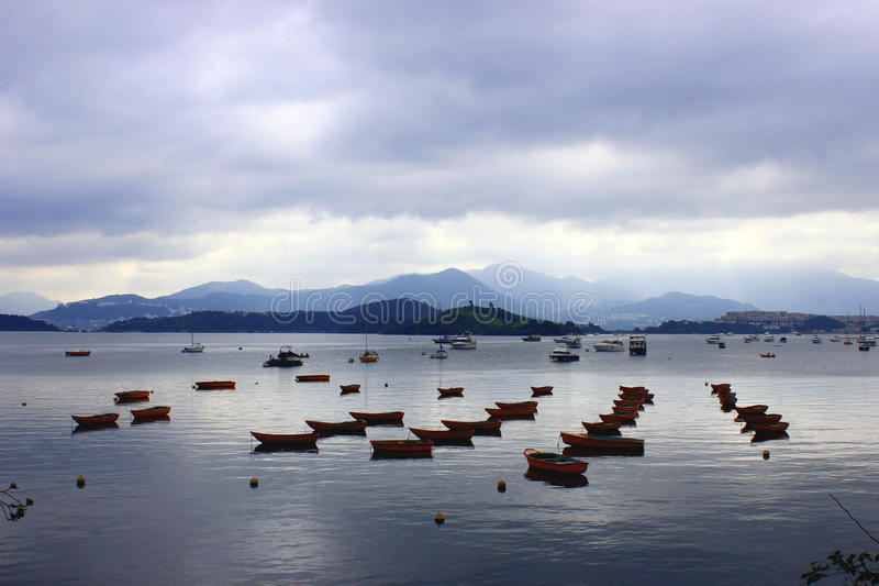 船在香港 免版税库存照片