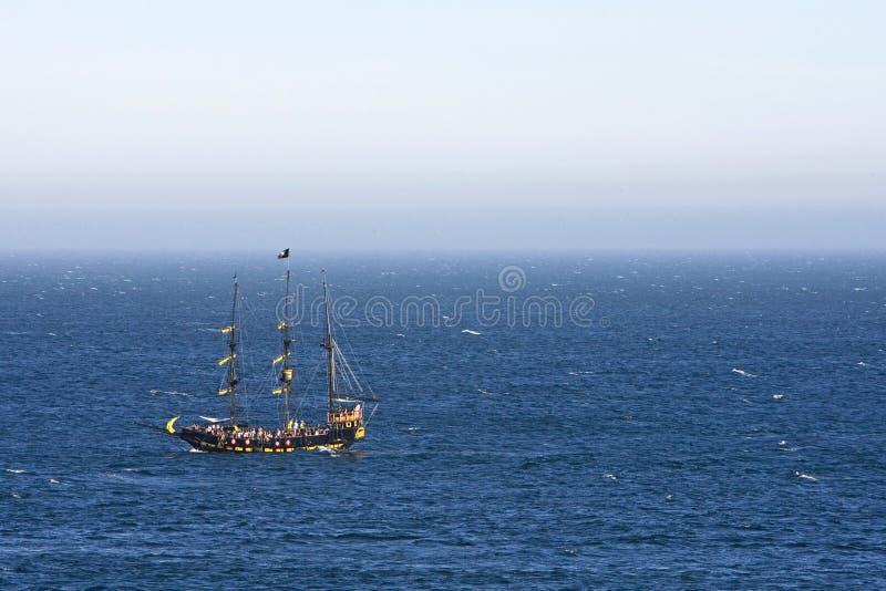 船在离墨西哥的海岸的附近 免版税库存图片