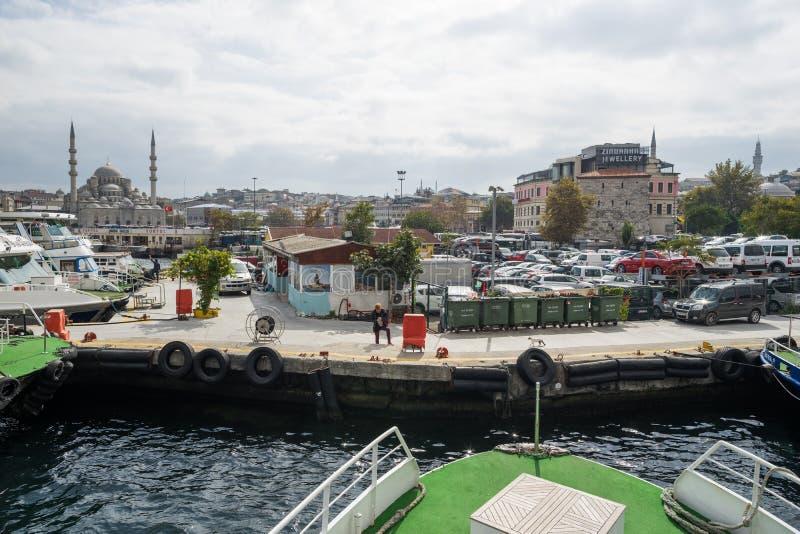 船坞在伊斯坦布尔 库存图片