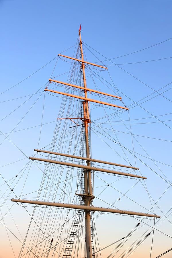 船帆柱 免版税库存图片