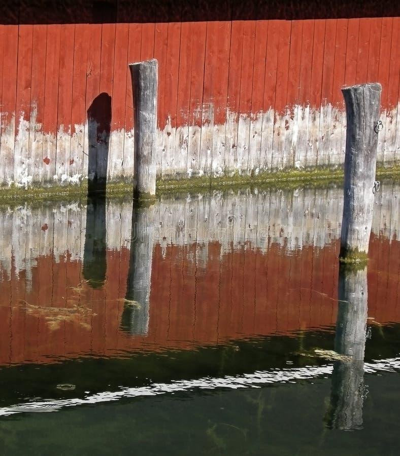 船库墙壁 库存图片