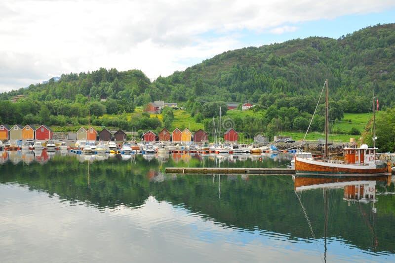船库挪威 库存照片