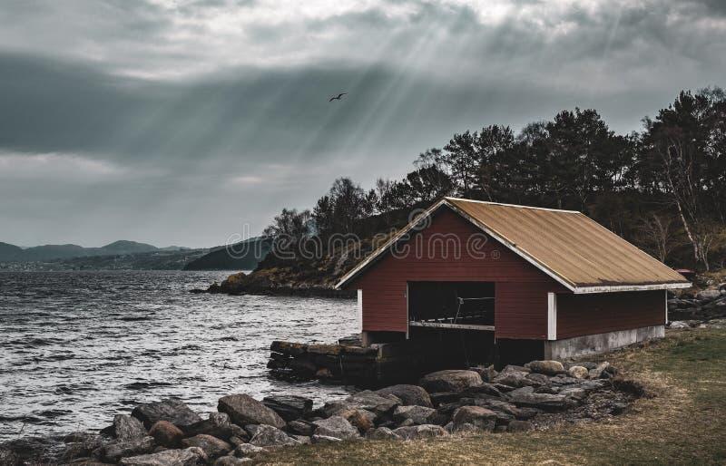 船库,斯塔万格,挪威 免版税库存图片