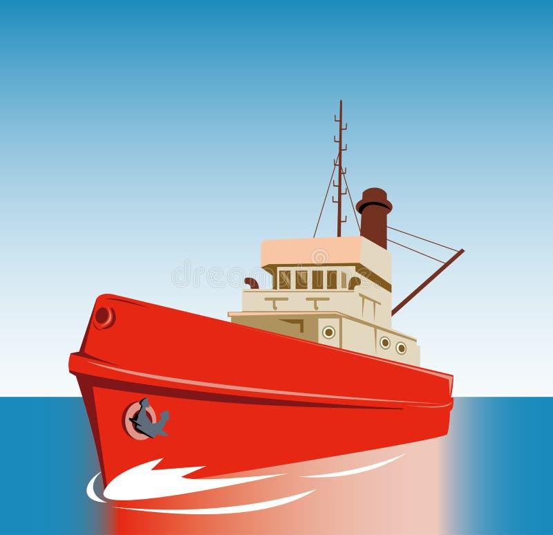 船拖轮 库存例证