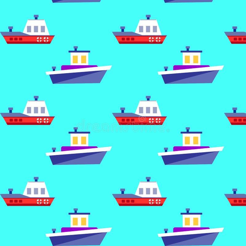 船无缝的样式 安卡拉 建筑在向量之下的例证股票 皇族释放例证