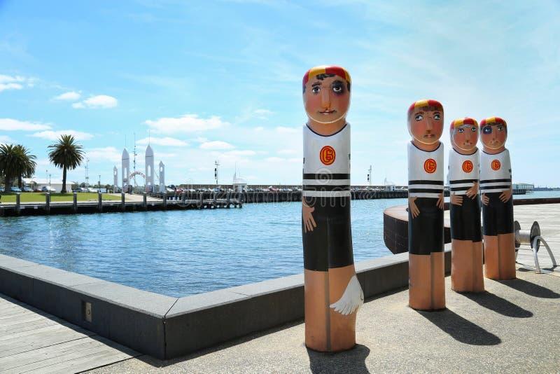 系船柱在吉朗,澳大利亚 免版税库存照片