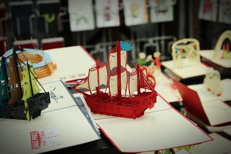 船流行艺术工艺 库存图片