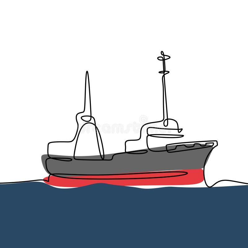 船海连续的一线描最低纲领派设计 皇族释放例证