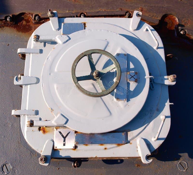 船的舱口盖 库存图片