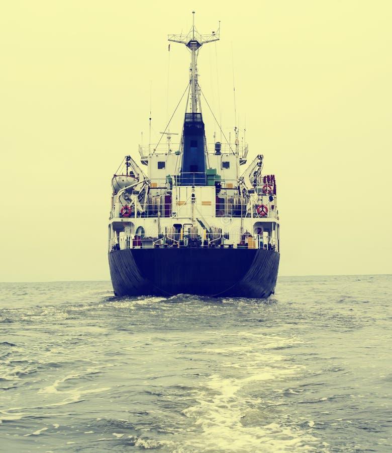 船的船尾 免版税库存图片