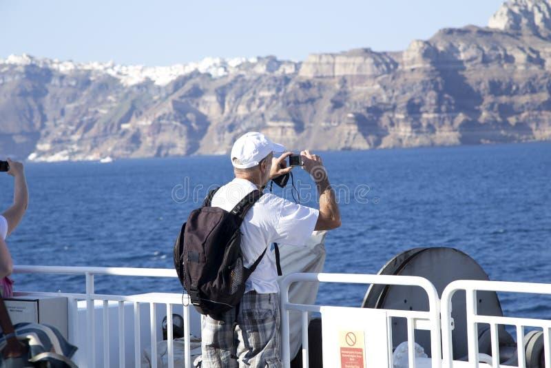 船的资深游人 免版税库存图片
