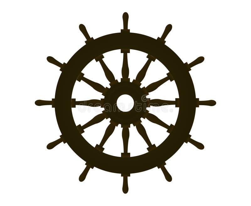 船舵 皇族释放例证