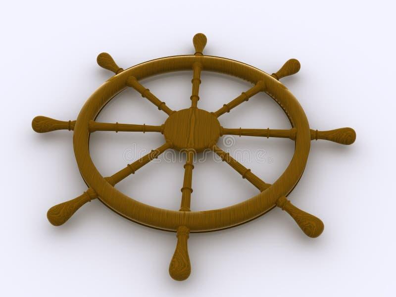 船舵 向量例证