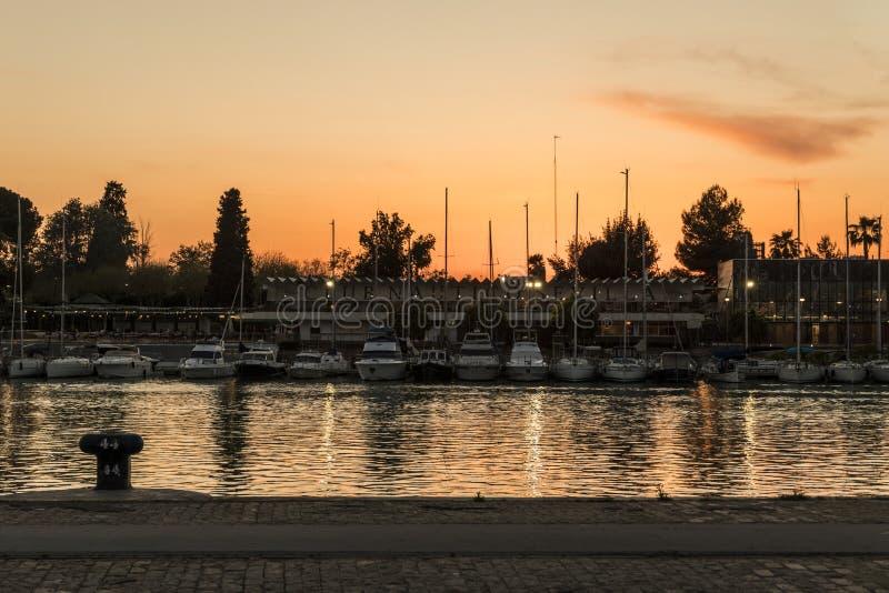 船舶俱乐部在塞维利亚,西班牙 库存照片