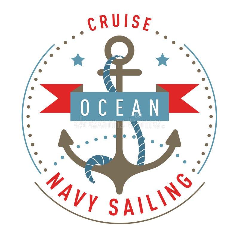 船舶商标,象征,标签模板 皇族释放例证