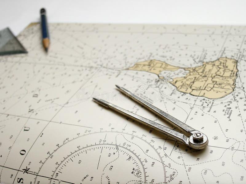 船舶图分切器铅笔 库存图片