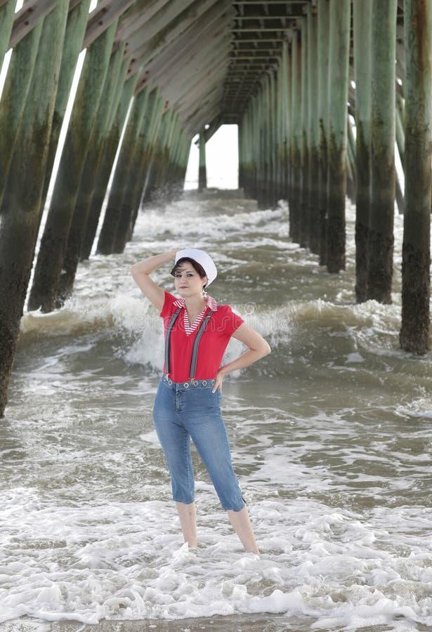 船舶妇女 免版税库存照片