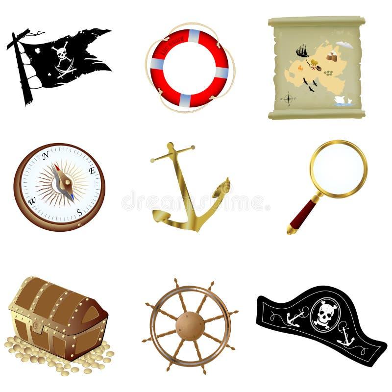 船舶的要素 向量例证