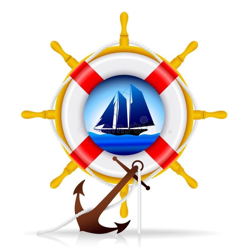 船舶的要素 库存例证