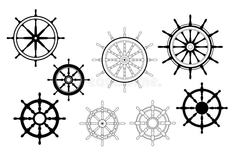 船舶船轮子 向量例证