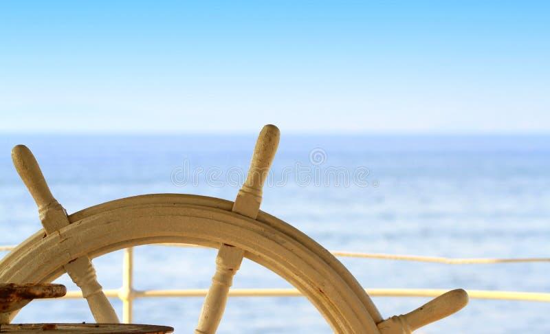 船船舵 免版税库存照片