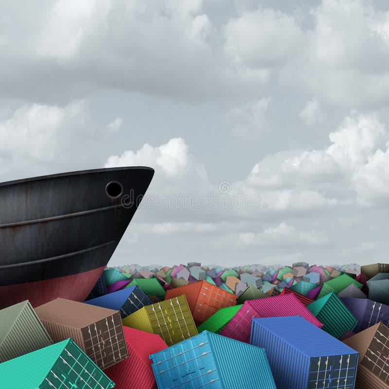 船运和货物航海 皇族释放例证