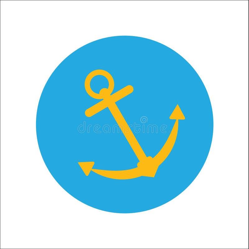船锚传染媒介象 库存例证