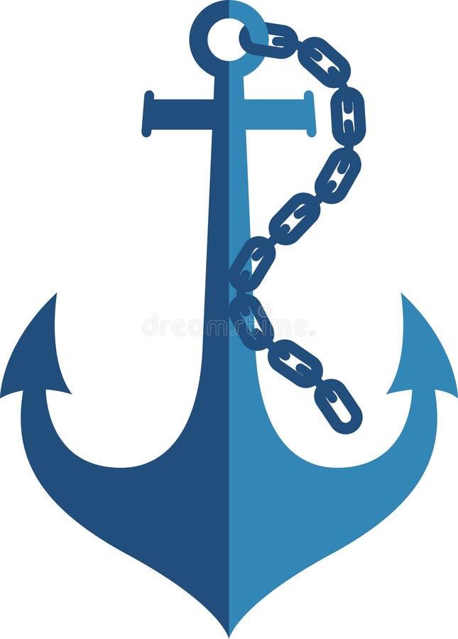 船锚商标 向量例证