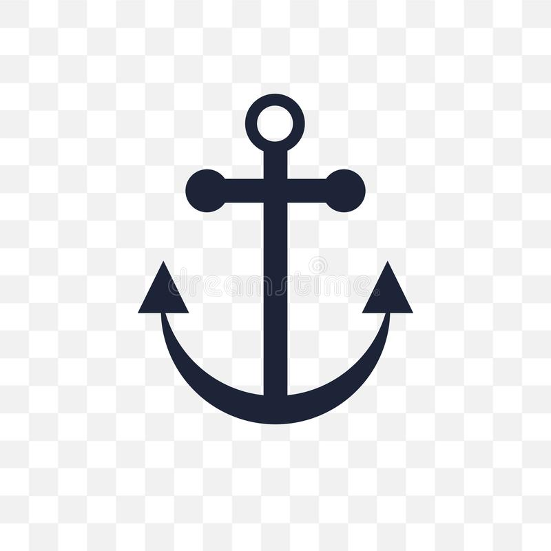 船锚透明象 船锚从船舶coll的标志设计 皇族释放例证