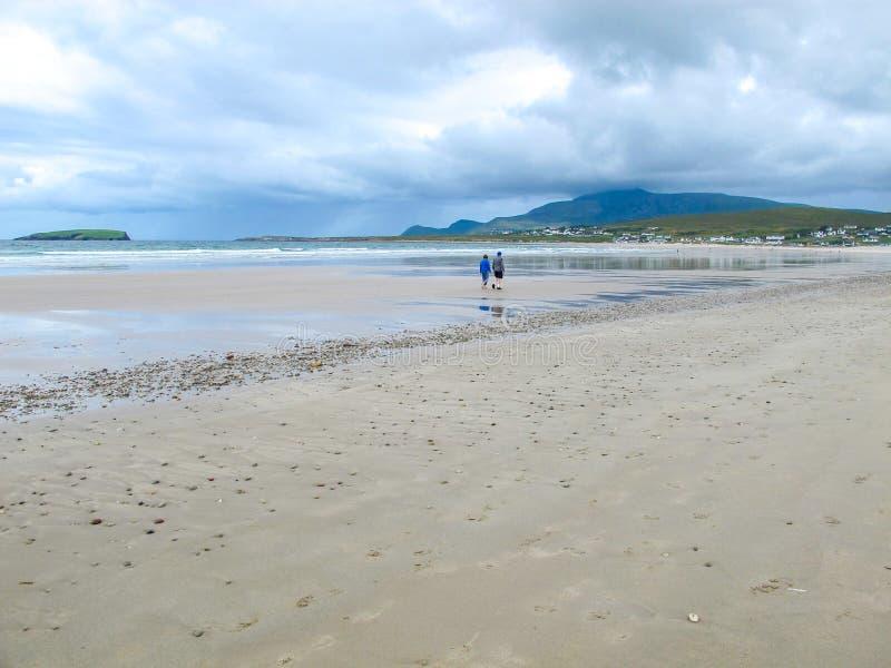 船骨海滩,阿基尔,马约角,爱尔兰 库存照片
