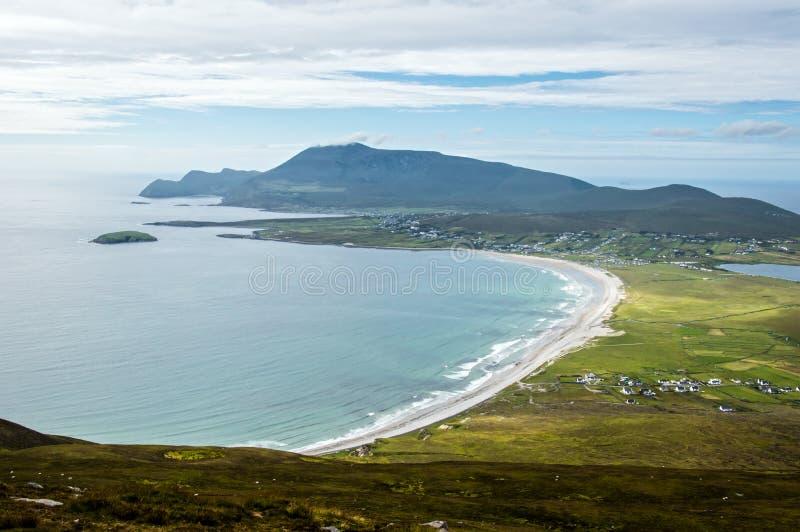 船骨海滩,阿基尔岛,爱尔兰 库存图片