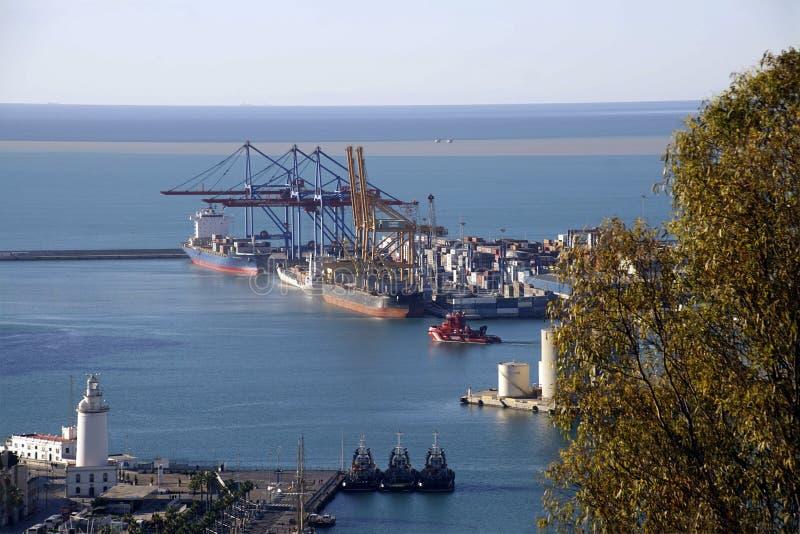 船鸟瞰图在港口 免版税图库摄影