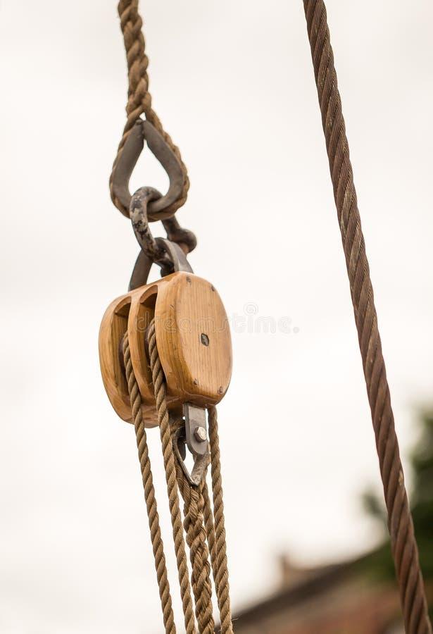 船滑轮 免版税图库摄影
