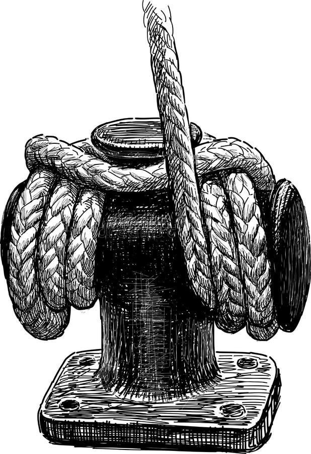 船绳索 库存例证