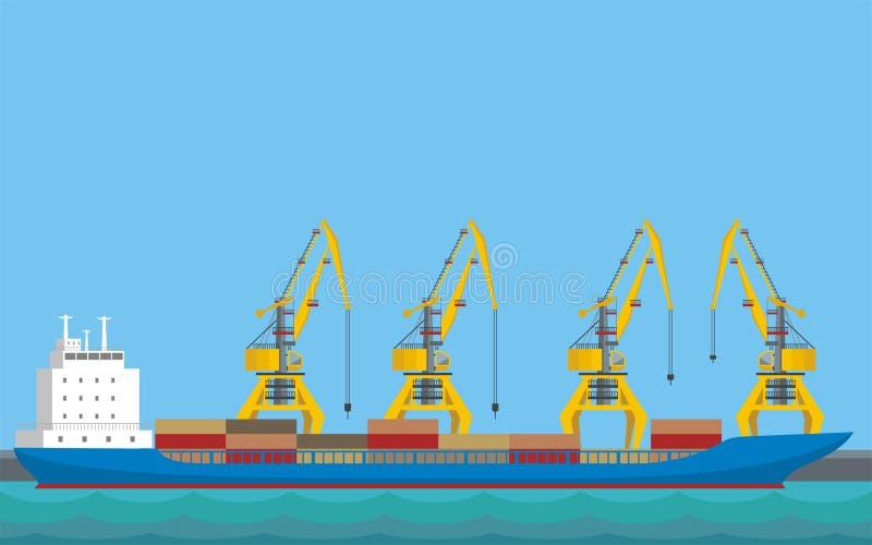 货船 向量例证
