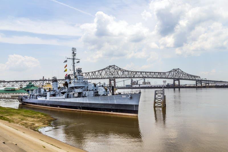 船USS Kidd担当博物馆 免版税图库摄影
