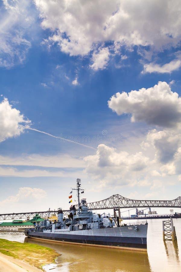船USS Kidd担当博物馆 免版税库存图片