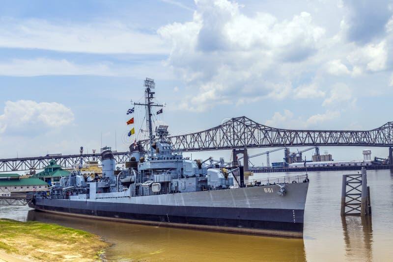 船USS Kidd担当博物馆 库存照片