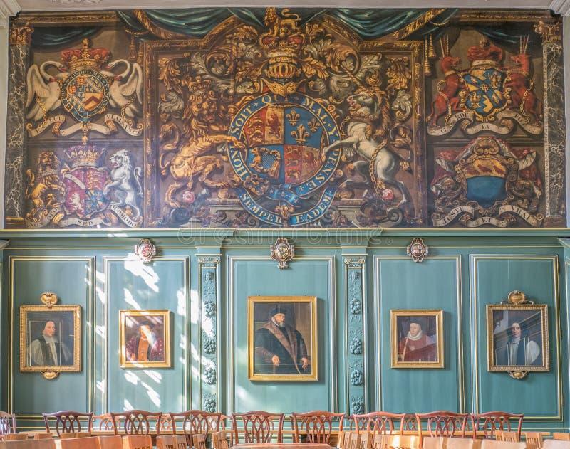 从良的妓女学院的,剑桥,英国餐厅 库存图片