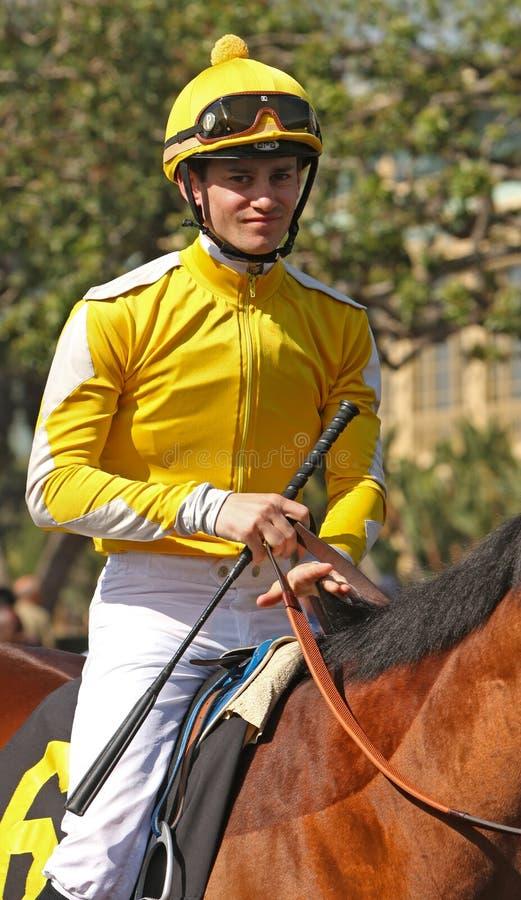 良种骑师Flavien Prat 免版税库存照片