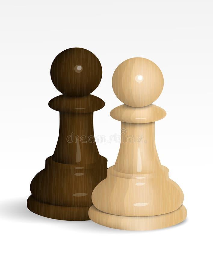 黑色一盘象棋一典当方法二白色 向量例证