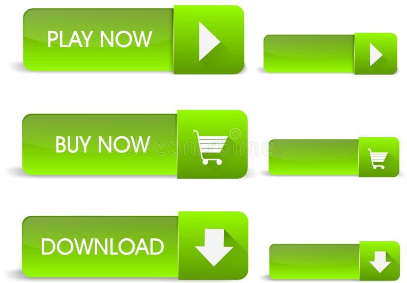 绿色万维网按钮 免版税库存照片