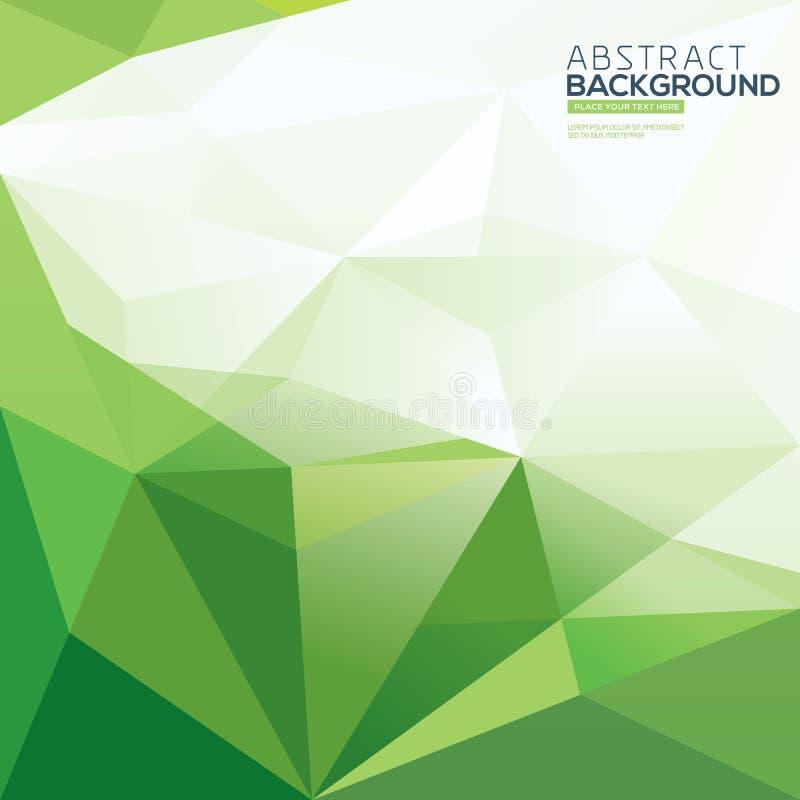 绿色三角摘要多角形背景 向量例证