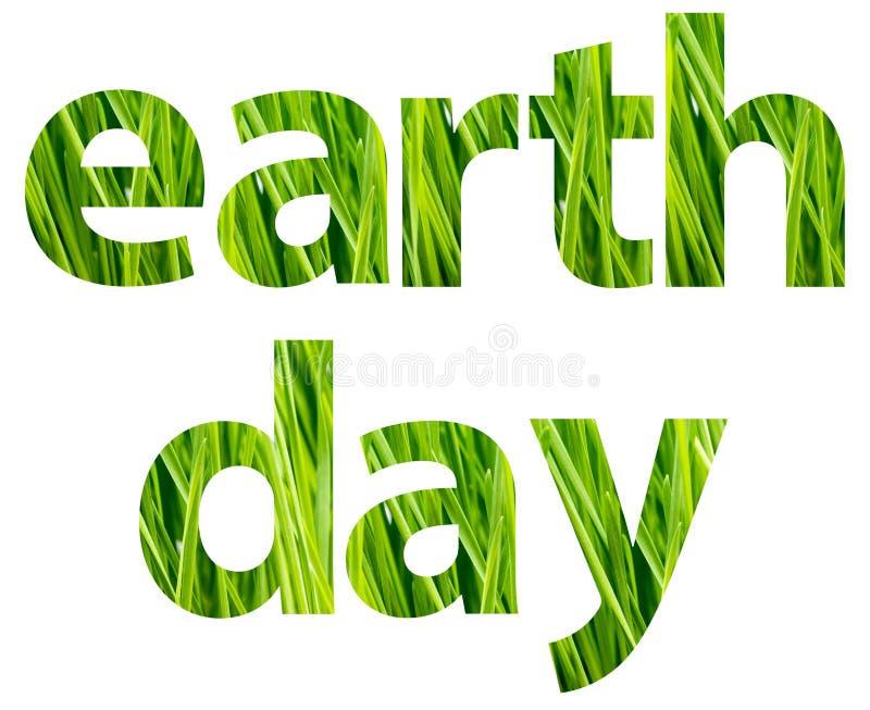 绿色世界地球日措辞概念 向量例证